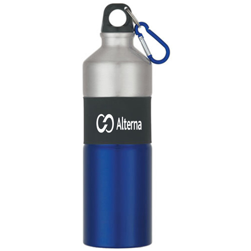 Rubber Grip Aluminum Bottle Image 2