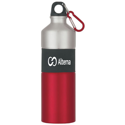 Rubber Grip Aluminum Bottle Image 3
