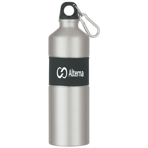 Rubber Grip Aluminum Bottle Image 4