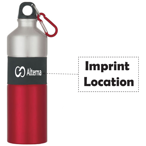 Rubber Grip Aluminum Bottle Imprint Image