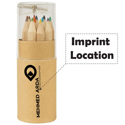 Color Pencil Tube 12 Pieces Imprint Image