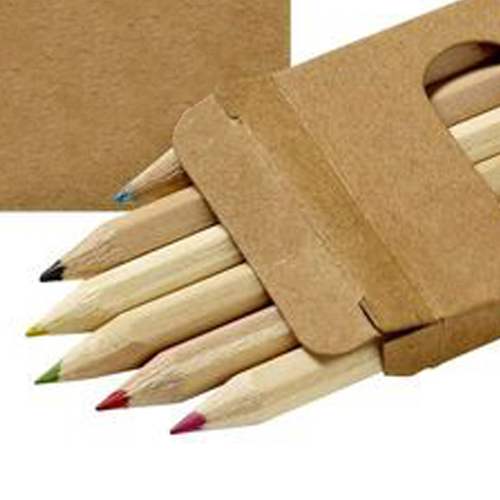 Wooden Six Color Pencil Set