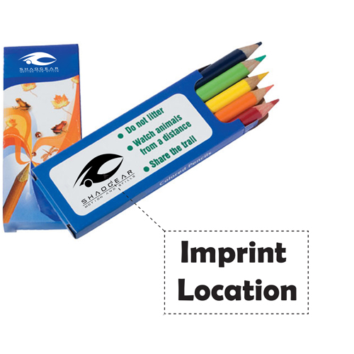 Colored 5 Pencils Pack Imprint Image
