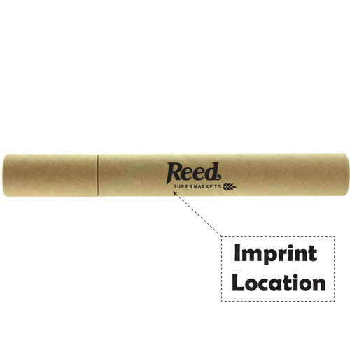 Paper Tube Pen And Pencil Set Imprint Image
