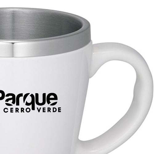 Stainless Steel Liner Ceramic Coffee Mug Image 3