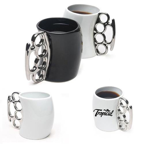 Knuckle Handle Ceramic Mug Image 1