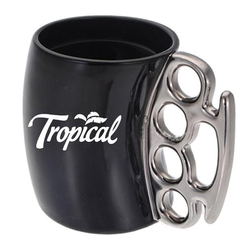 Knuckle Handle Ceramic Mug Image 2