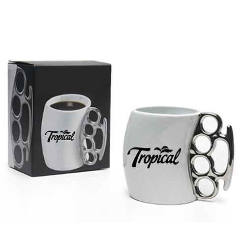 Knuckle Handle Ceramic Mug Image 3