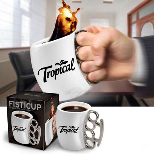 Knuckle Handle Ceramic Mug Image 4
