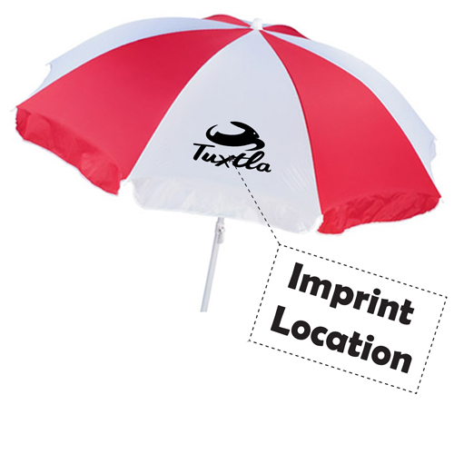 Two Piece Beach Umbrella Imprint Image