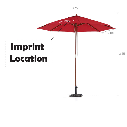 Outdoor Beach Parasol Canopy Imprint Image