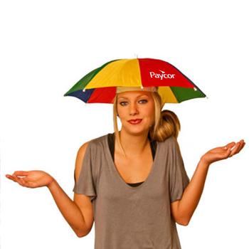 قبعة مظلة متعددة الألوان