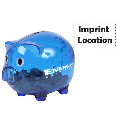 Translucent Durable Piggy Bank Imprint Image