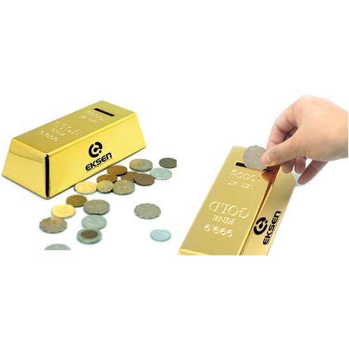 Gold Bar Shape Piggy Bank Image 1