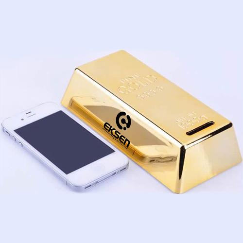 Gold Bar Shape Piggy Bank Image 3