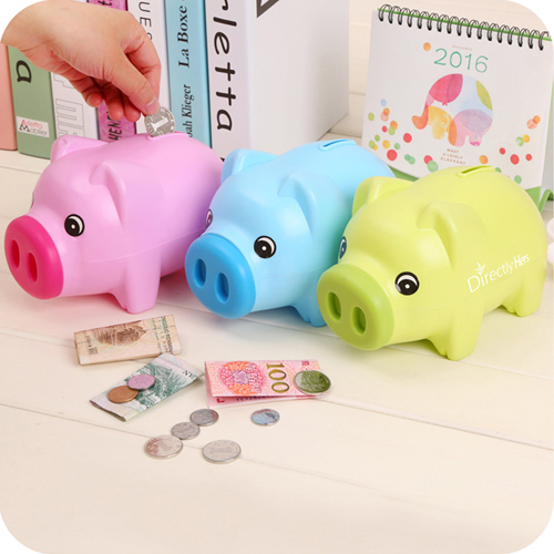 Plastic Beautiful Piggy Bank Image 1