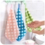 Hangable Coral Velvet Kitchen Towel