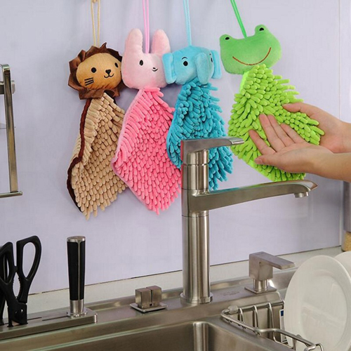 Multifunction Cartoon Animals Kitchen Towel Image 3