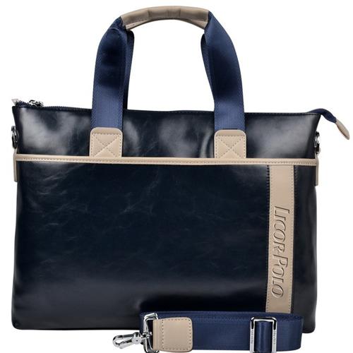 Vintage Leather Briefcase Business Bag Image 1