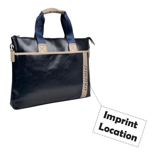 Vintage Leather Briefcase Business Bag Imprint Image