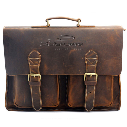 Handmade Mens Leather Vintage Handbag