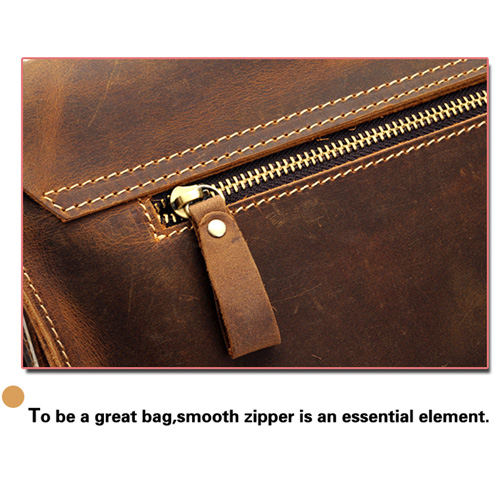 Handmade Mens Leather Vintage Handbag Image 8