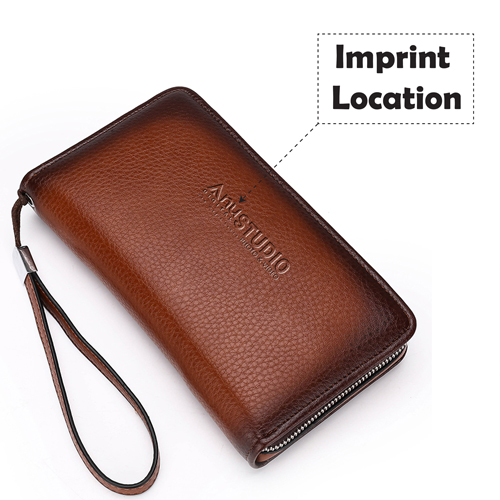 Mens Clutch Wallets Handy Bag Imprint Image