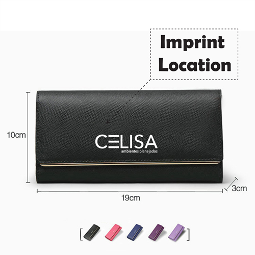 Folding Design Womens Hasp Clutch Imprint Image
