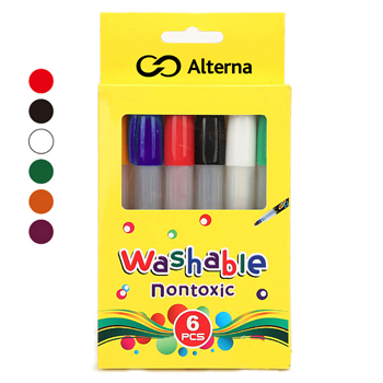 Non Toxic Silky 6 Colors Pencil