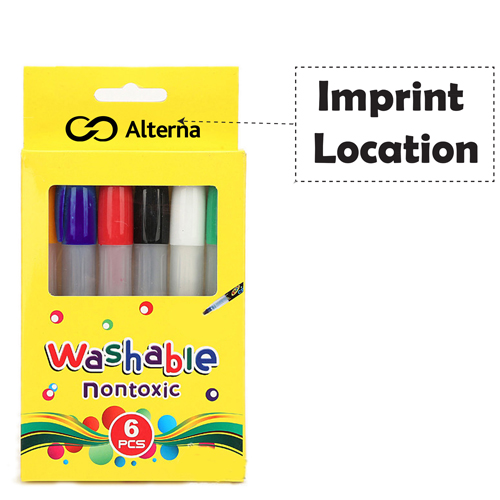 Non Toxic Silky 6 Colors Pencil Imprint Image
