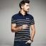 Stripe Pattern Sleek Polo Shirt