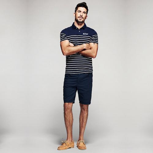 Stripe Pattern Sleek Polo Shirt Image 3