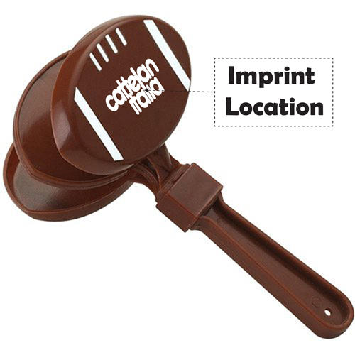 Foodball Shaped Hand Clapper Imprint Image