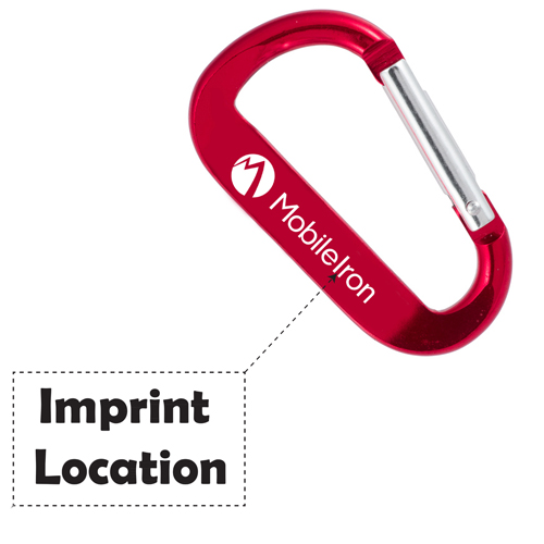 Carabiner Logobeener Keychains Imprint Image