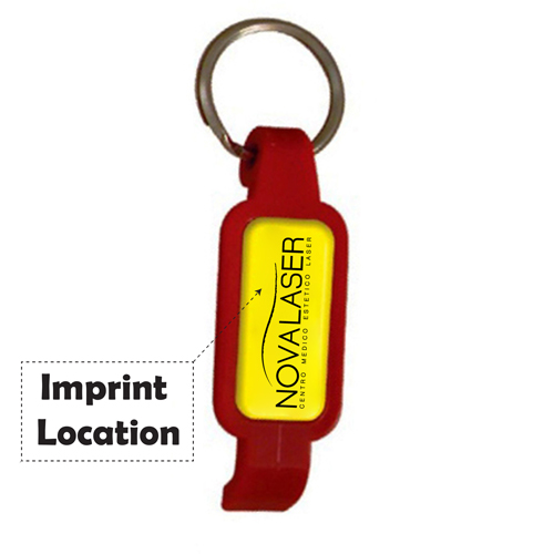 Epoxy Dome Bottle Opener Keychain Imprint Image