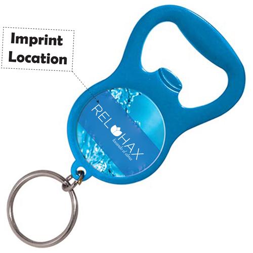 Metal Bottle Opener Keyring Imprint Image