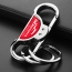 Silver Double Ring Key Chain