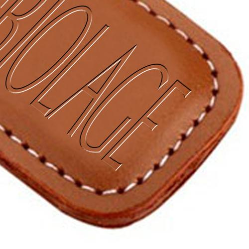 Customized Leather Keychain Image 2