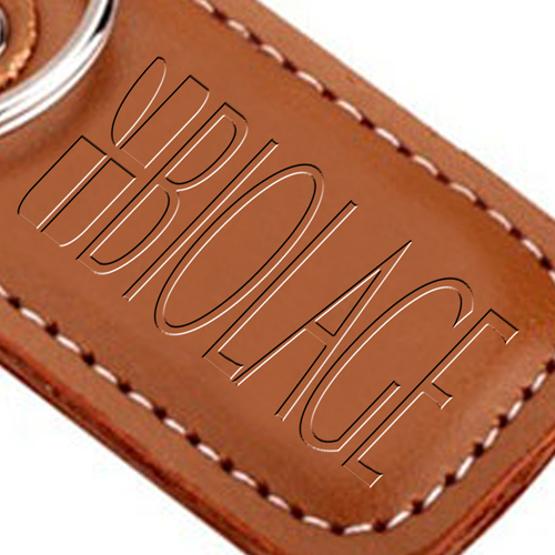 Customized Leather Keychain Image 3