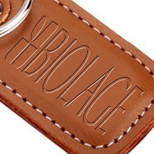 Customized Leather Keychain Image 3