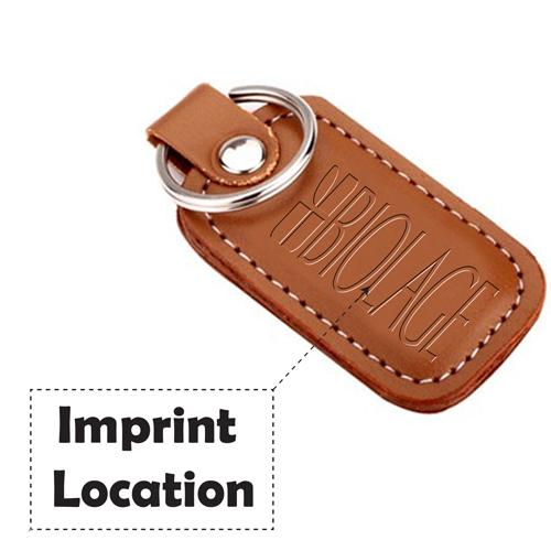 Customized Leather Keychain Imprint Image
