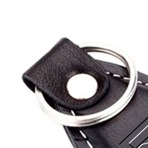 Mini Leather Key Ring Image 1