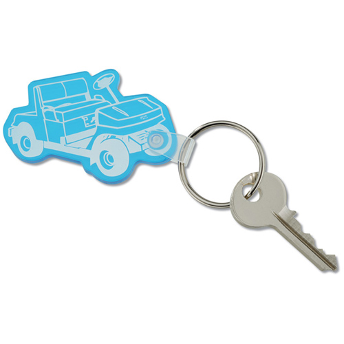 Custom Shape Vinyl Soft Key Tag Image 5