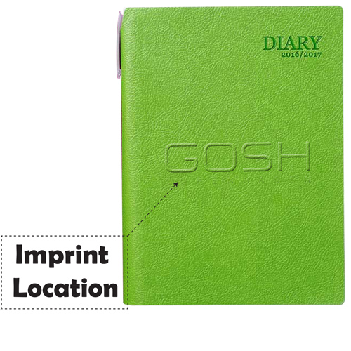 Leather Calendar Daily Weekly Planner Imprint Image