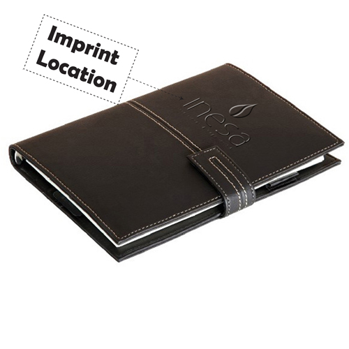 Leather Diary A5 Notebook Imprint Image