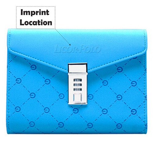 Fashion Diray With Lock Cute Notebook Imprint Image
