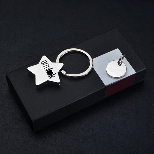 Star Pentagram Key Chain Image 1