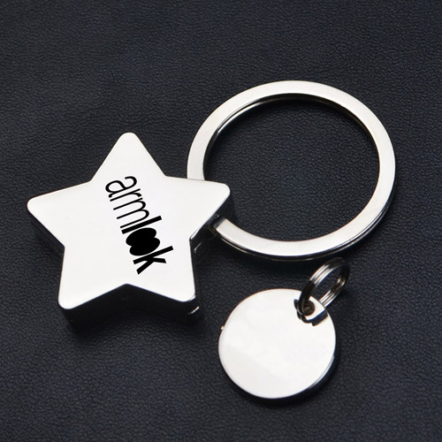 Star Pentagram Key Chain Image 2