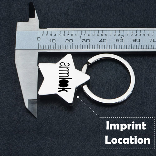 Star Pentagram Key Chain Imprint Image