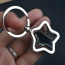 Star Key Chain Ring Holder Image 2